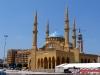 La mosquée Muhammad Al Amine masquant l\'église Saint-Georges. Photo: LSDP