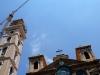 L\'érection en cour du Campanile de l\'église Saint-Georges derrière la mosquée Muhammad Al Amine