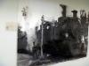 Aspect de l\'exposition sur les trains à l\'aéroport de Beyrouth. Photo: LSDP
