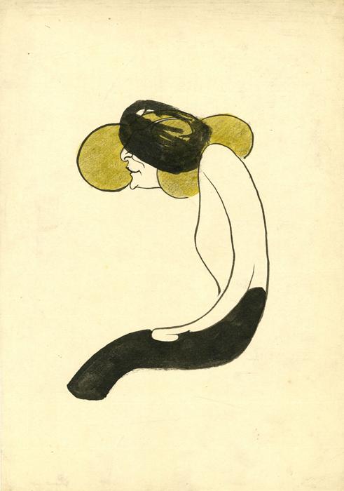 Caricature de l\'actrice Effie Shannon