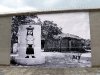 Oeuvre sur papier collé du peintre brésilien Derlon en face des ex Moulins de Pantin. Photo: Les Soirées de Paris