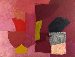 Serge Poliakoff/Mauve violet et rose, 1954/Huile sur toile/89 x 116 cm/Collection particulière