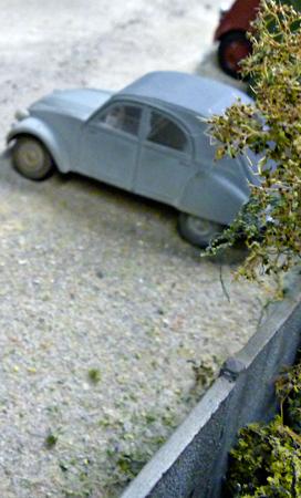 Maquette de 2 CV au musée du jouet de Rambouillet. Photo: PHB