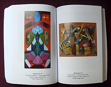 Une peinture de la Baronne d'Oettingen côtoie une oeuvre de Serge Férat. Photo: PHB