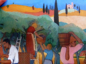 Détail de la peinture de Soffici ornant la couverture du livre paru aux Editions de l'Age d'homme. Photo: PHB