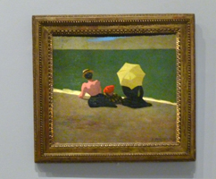 Sur la plage. Oeuvre de Félix Vallotton. Photo: PHB