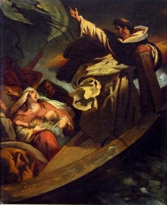 Ary Scheffer (1795-1858) Saint Thomas d'Aquin prêchant la confiance dans la bonté divine pendant la tempête, avant 1824,Pays-Bas © Dordrecht, Dordrechts Museum