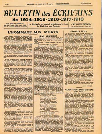 En octobre 1918, Paul Géraldy fait le portrait de Jean Arbousset, tué trois mois plus tôt. Collection Gérard H. Goutierre