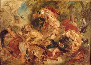 Eugène Delacroix (1798-1863), La Chasse aux lions, 1854, Paris, musée d'Orsay © RMN-GrandPalais (musée d'Orsay) / Gérard Blot