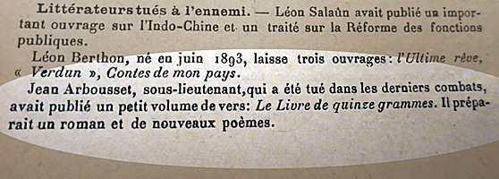 Bulletin du Mercure de France. Collection: Gérard H.Gouttiere