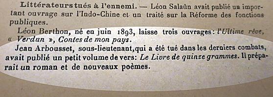 Bulletin du Mercure de France. Collection: Gérard H.Gouttiere