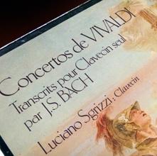 Concertos de Vivaldi transcrits pour clavecin. Pochette du 33 tours. Photo: Les soirées de paris