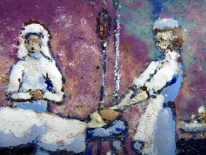 Scène d'anesthésie. Peinture offerte par un malade au Doocteur Jeanne Bonnet-Leobardy. Photo: PHB