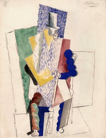 L'homme au Gibus. Pablo Picasso, 1914.