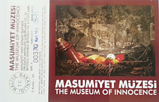 Le ticket pour le musée de l'innocence. Photo: Catherine Boccaccio