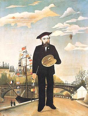 La toile intitulée Moi-même est un Portrait-paysage (autoportrait) du peintre Henri Julien Félix Rousseau dit le Douanier Rousseau, réalisé en 1890.(Source Wikipédia). Et paru en 1914 dans les Soirées de Paris (collection: Jastrebzoff)