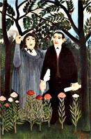 La Muse inspirant le Poète, par Henri Rousseau. Musée de Bâle. Source Wikicommons