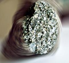 Extrait de granit de Saint-Yrieix les Bois (Creuse). Photo: LSDP
