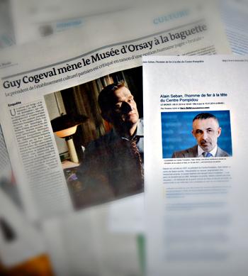 """Les deux articles du """"Monde"""". Photo: PHB"""