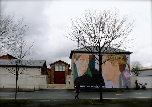 La galerie Thaddaeus Ropac à Pantin, exposant Axel Katz. Photo: Les Soirées de Paris