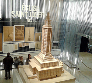 L'église Saint-Joseph du Havre. Exposition Perret au Palais d'Iéna. Photo: Lottie Brickert
