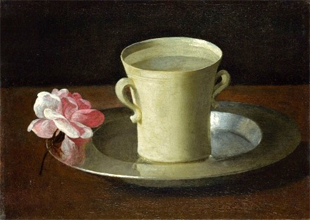 Tasse à eau et rose (vers 1650) Londres National Gallery