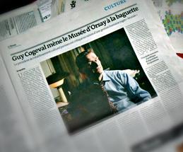 L'article du Monde en date du 21février. Photo: Philippe Bonnet