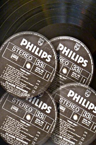 """Claude Nougaro. 33 tours """"Paris Mai"""". Photo: Les Soirées de Paris"""