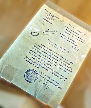 L'ordre d'exécution de Mata-Hari. Visible aux Archives de Paris. Photo: LSDP