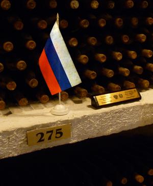 La réserve de Vladimir Poutine à Cricova. Photo: LSDP