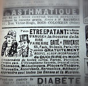 Publicité extraite d'un numéro du Chasseur Français daté décembre 1929. Photo: LSDP.