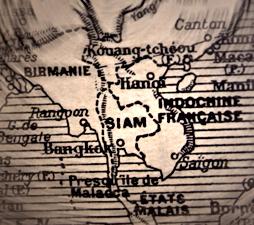 Vieille carte de l'Indochine. Photo: Les Soirées de Paris