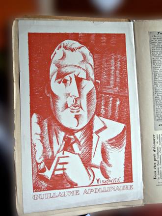 Le portrait d'Apollinaire par Marcoussis, inclus dans la revue des Editions de l'esprit nouveau. Photo: Les Soirées de Paris
