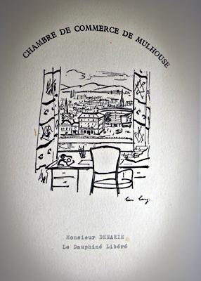 Le menu du Paris-Mulhouse Air Inter. 6 mais 1963. Photo: Les Soirées de Paris