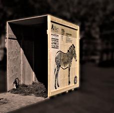 Le nouveau zoo faisait sa pub Pplace de la République. Photo: Les Soirées de Paris