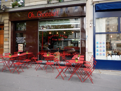 The new Oh Chocolat, Restaurant basque avenue Trudaine. Photo: Lottie Brickert