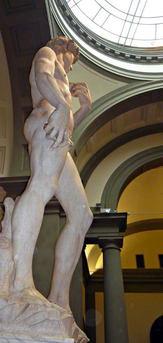 Le David de Michel Ange. Photo: Guillemette de Fos