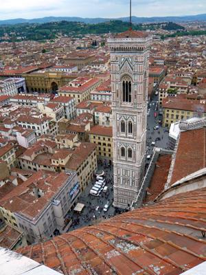 Florence vue d'en haut. Photo: Guillemette de Fos