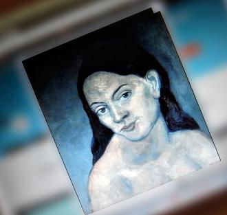 Cécile Acker par Picasso. Sur le site du MET. Photo: LSDP
