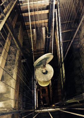 Vue en profondeur de l'horloge de Lucca et son mécanisme. Photo: Guillemette de Fos