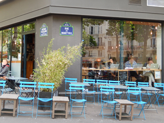 le coffee shop Kooka Boora (angle rue des Martyrs/avenue Trudaine). Photo: Lotiie Brickert