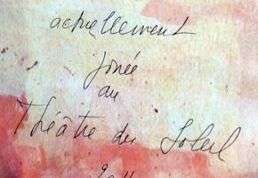 Détail de l'affiche du prochain spectacle du théâtre du Soleil. Photo: Les Soirées de Paris
