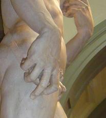 La main de David (Michel Ange). Photo: Guillemette de Fos