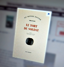 Le tort du soldat. Gallimard. Photo: LSDP