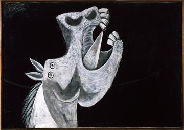 . Pablo PICASSO, Tête de cheval, étude pour Guernica, 2 mai 1937 © Succession Picasso 2014 © Photographic Archives Museo Nacional Centro de Arte Reina Sofia