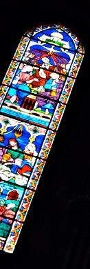 Vitrail représentant l'Esprit Saint (Eglise de Belleville). Photo: Les Soirées de Paris