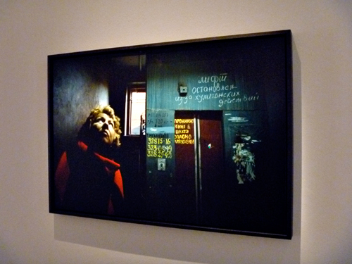 Aspect de l'exposition consacrée au trvail de Françoise Huguier à la MEP. Photo: LSDP