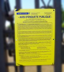 Avis sur les grilles des jardin des Serres d'Auteuil. Photo: LSDP