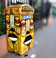 Boîte aux lettres, rue de l'Ourcq. Photo: Les Soirées de Paris