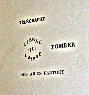 Idéogramme paru dans Les Soirées de Paris (numéro de juillet 1914). Photo: LSDP